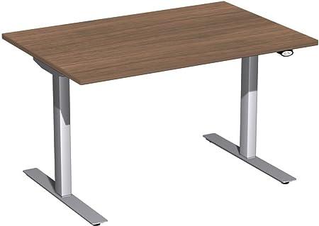 Eléctrico (Altura Ajustable escritorio, 1200x 800x 680-1160, nogal/plata