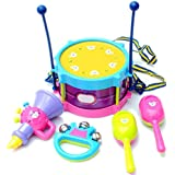 Percussion Instruments Set RATTLES Waist Drum Musical Toy Instrument Accessories for 3+ years old