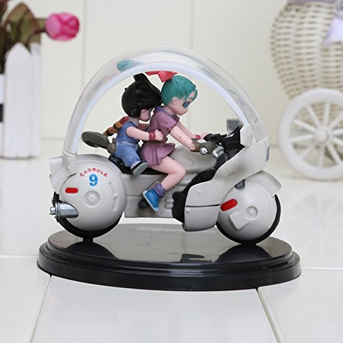 Dragon Ball Z Son Goku Bulma Motorcycle PVC Action Figure Animal Model Toy 8cm