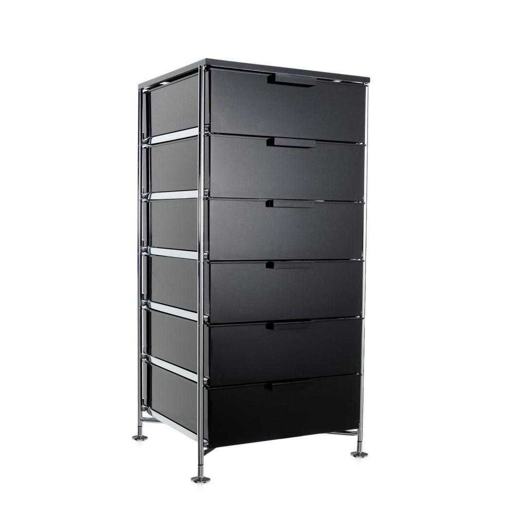 Kartell 2041L8 Container Mobil, 6 Schubladen, fumé