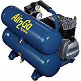 Jenny A2G246-HC4V Hand Carry Portable Electric Motor Air Compressor, 4.8 Gallon Tank, 1 Phase, 2 HP, 115V (Tamaño: 4.2 gal.)