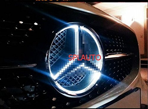 SPLAUTO Illuminated LED Light Front Emblem Lamp Car Front Grille Star Emblem Badge for Mercedes-Benz (2013-2016) (Lights For Cars Front compare prices)