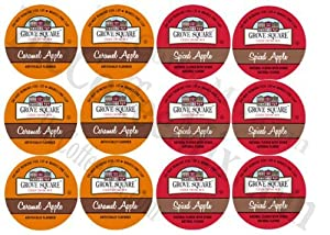 Grove Square Apple Cider Sampler, 2 Flavors, 12 Single Serve Cups