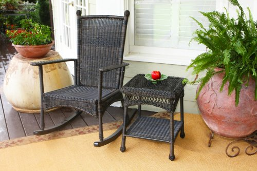 Tortuga Outdoor PSR2-P Portside Plantation Rocker Set Dark Roast photo