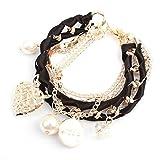 Shining Diva Fashion Multilayers Crystal Imitation Pearl Love Heart Charm Bracelets for Girls