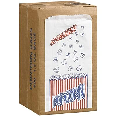 Great Northern Popcorn Company 1-1/2-Ounce Duro Bag Popcorn Bags, Case of 500 from Duro Bag Mfg Co