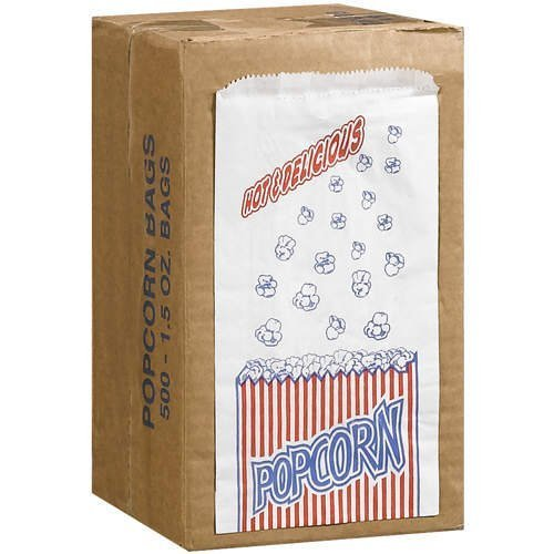 Great Northern Popcorn Company 1-1/2-Ounce Duro Bag Popcorn Bags, Case of 500 (Theater Style Popcorn Bags compare prices)