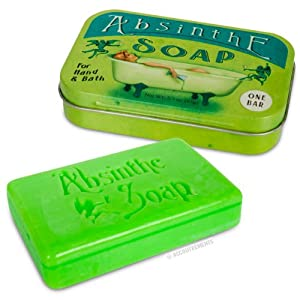 Accoutrements Absinthe Soap in Vintage Collectible Tin