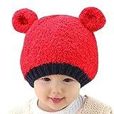 Happy Cherry - Gorra Gorro Sombrero de Beb�s ni�os ni�as Caliente Infantil de Invierno para recien nacidos - rojo 6-24 meses