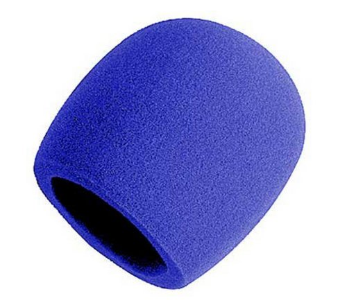 Liroyal Pack Of 10 Pcs Blue Handheld Stage Microphone Windscreen Foam Cover