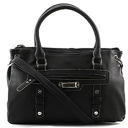 Rosetti Let\'s Face It Satchel Bag, Black, One Size