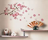Wall Decor Removable Decal Sticker - Cherry Blossoms Tree Branch (Small)