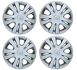 Premium Quality Car Full Caps Silver 14inches Wheel Cover For - Maruti Suzuki Swift Dzire Old