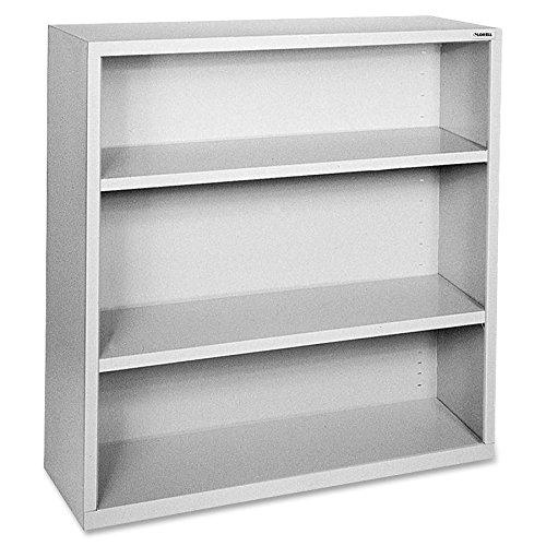 Lorell LLR41283 Fortress Series Steel Book Case, Light Gray Series Steel 3 Shelf Bookcase
