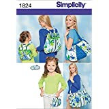 Simplicity Pattern 1824 Bags Size, One Size
