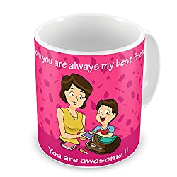 Gift for Mom Mothers Day Birthday Anniversary Mom You Are Awesome Pink Best Quality Ceramic Mug Everyday Gifting