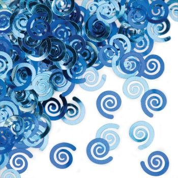 True Blue Swirls Confetti - 1