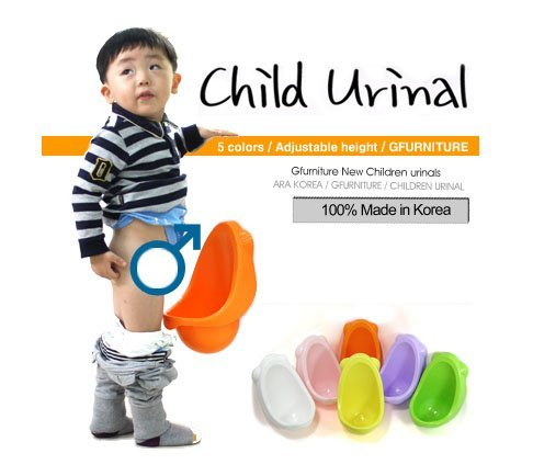 New Potty Pee Training Toilet for Boy--orange