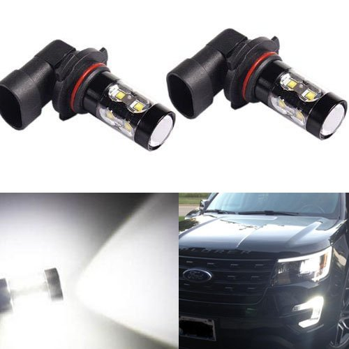 JDM ASTAR Extremely Bright Max 50W High Power H10 9145 LED Bulbs for DRL or Fog Lights, Xenon White (Fog Light Bulbs Dodge Charger compare prices)