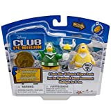 Disney Club Penguin Series 10 Mix N Match Mini Figure Pack Yellow Team Green Team Cheerleader Includes Coin With...