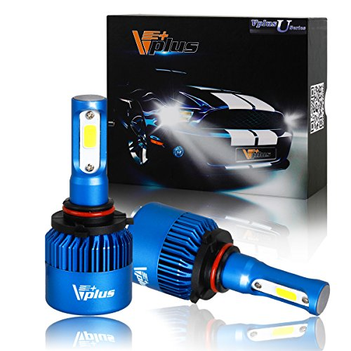 Vplus U Series LED Headlight Bulbs w/ Clear Focused Beam Kit - 9005 HB3 80W 8,000LM 6500K White COB w/ Fan LED Headlamp Conversion Replace HID & Halogen - 2 Yr Warranty - (2pcs/set) (2008 Dodge Caliber Se Headlights compare prices)