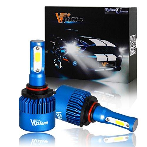 Vplus U Series LED Headlight Bulbs w/ Clear Focused Beam Kit - 9005 HB3 80W 8,000LM 6500K White COB w/ Fan LED Headlamp Conversion Replace HID & Halogen - 2 Yr Warranty - (2pcs/set) (2007 Lexus Es 350 Headlight Bulb compare prices)