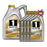 Mobil 1 0W-40 New Life Fully Synthetic Engine Oil 149015 1x5L+4x1L = 9L
