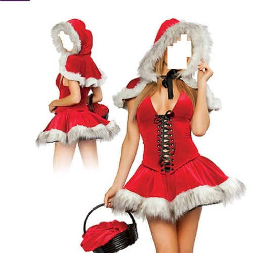 Sexy Miss Santa Mrs Christmas Womans Xmas Fancy Dress Outfit / Costume Size 8 10 12 14 16