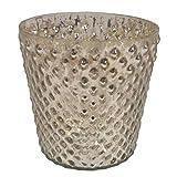 GolMaalShop Glass Candle Holder Slim (4.4 X 11.4 Inches, Silver) - B00R16U5XI