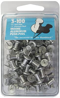 Moore Push-Pin Aluminum Push Pins