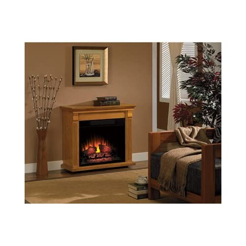 Amazon.com: Chimney Free Rolling Mantel Electric Fireplace - Oak, 4600