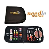 Mini Sewing Kit for Travel, Home, Campus, Car, Professional and Emergency Use. Premium Portable Starter Sewing Kits for Kids and Adults. Best Sewing Kit That Comes with Spool of Multicolours Thread