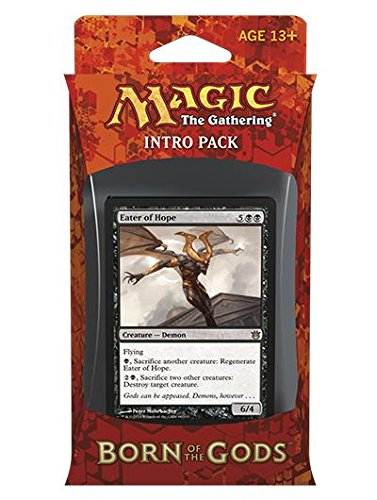 """Magic the Gathering Born of the Gods Intro Pack """"Death's Beginning"""" with Eater of Hope Card - Black"""