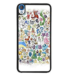 PrintDhaba Cartoon D-3827 Back Case Cover for HTC DESIRE 820 (Multi-Coloured)