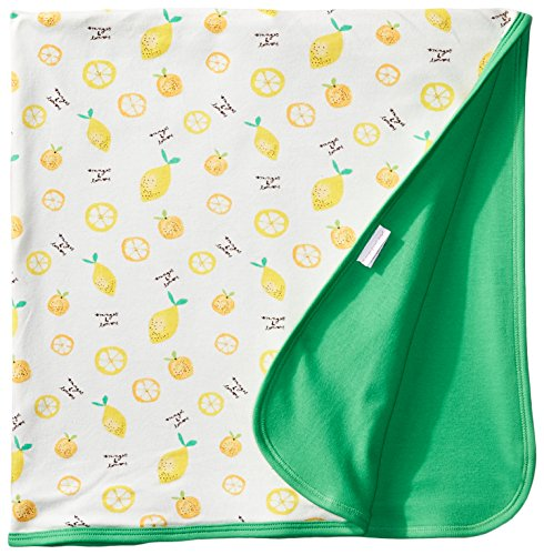 Magnificent Baby Baby-Girls Newborn Oranges and Lemons Reversible Blanket, Oranges/Lemons, One Size