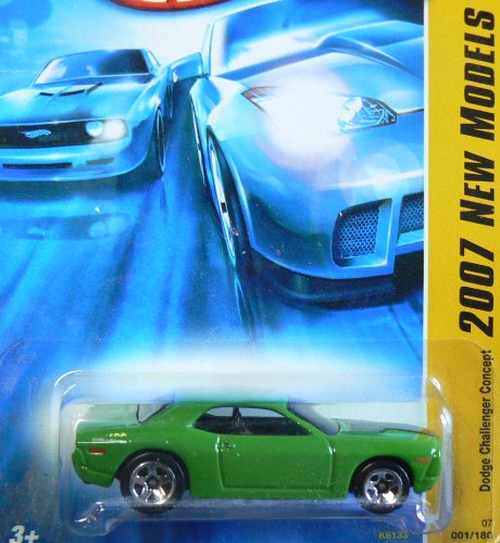 Hot Wheels 2007 New Models Green Dodge Challenger Concept - 1