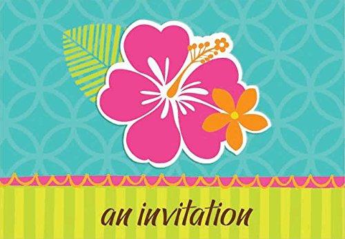 invitation hibiscus splash folded