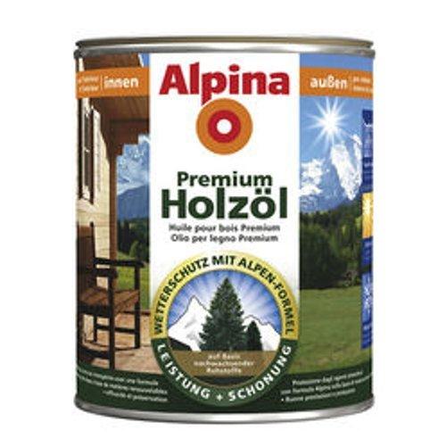 Alpina Premium Holzöl, 2,5 L., Innen & Außen, Eiche