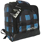 Bentley Deluxe Ski Boot Bag Rucksack Holdall - Available In Blue/Black and Pink/Black Check