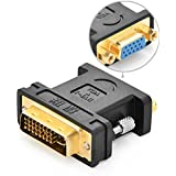 Ugreen DVI-D24+5 DVI-Iオス to VGAオス変換デュアルリンクデジタルビデオケーブル /ゲーム、DVD、ラップトップ、HDTVやプロジェクター、1080p対応、金メッキコネクタ搭載  (アダプター)