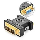 Ugreen-DVI-Adapter-DVI-I-245-Stecker-zu-VGA-HD15-Buchse-Konverter-Digital-auf-Analog-Adapter-fr-GrafikkartenBeamerund-Monitore-TFT-Crt-Monitoradapter-digital-auf-anlalog-Vergoldete-Kontakte-Untersttzt