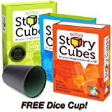 Rory's Story Cubes Combo Pack: Includes Original, Action and Voyages Edition with Free Dice Cup