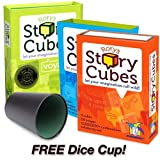Rory's Story Cubes Combo Pack: Includes Original, Action and Voyages Edition with Free Dice Cup thumbnail