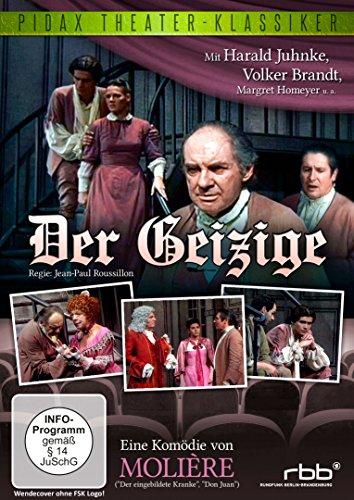 Der Geizige / Komödie von Molière mit Harald Juhnke und Volker Brandt (Pidax Theater-Klassiker)