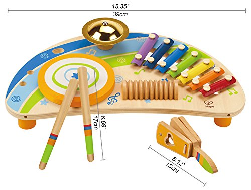 Hape-Early-Melodies-Mighty-Mini-Band-Wooden-Percussion-Instrument