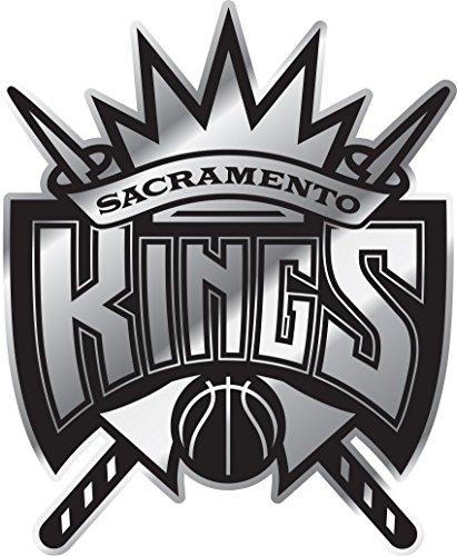 NBA Sacramento Kings Chrome Emblem, One Size, One Color, 3.25
