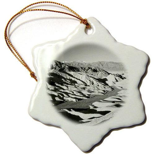Orn_142547_1 Danita Delimont - Deserts - Telescope Peak, Death Valley, California, Usa - Us05 Aje0066 - Adam Jones - Ornaments - 3 Inch Snowflake Porcelain Ornament