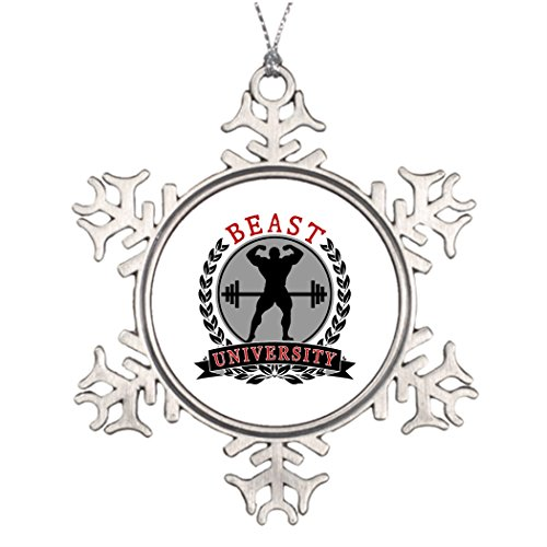 Funny ship Bodybuilder Personalised Christmas Tree Decoration Weightlifting Snowflake Ornaments And More Beast
