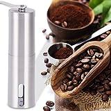 GHB Kaffeemühle Manuelle Kaffeemühle Hand Kaffeemühle Hand Coffee Grinder Espressomühle mit keramikmahlwerk - Edelstahl