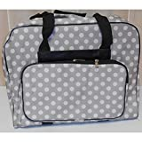 Hemline Dotty Sewing Machine Bag in Grey Polka Dot
